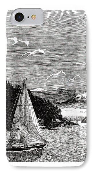 Gig Harbor Sailing School Phone Case by Jack Pumphrey