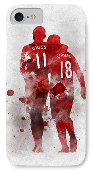 Giggsy And Scholesy IPhone Case by Rebecca Jenkins