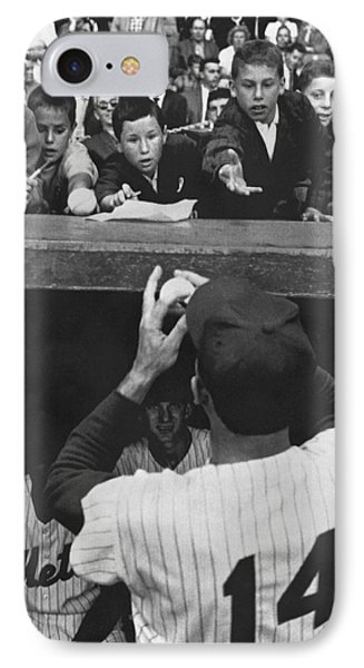 Gil Hodges Baseball Fans IPhone Case by Underwood Archives