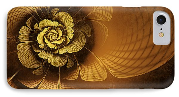 Gilded Flower IPhone Case by John Edwards
