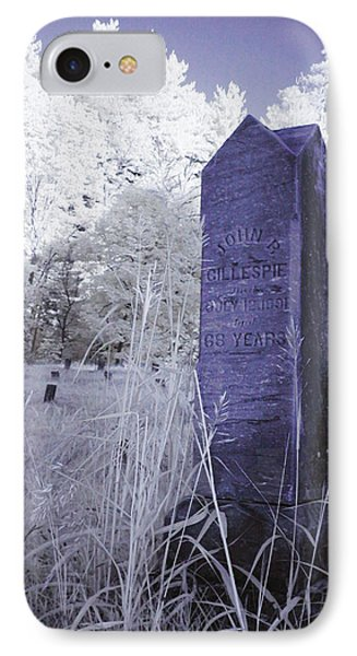 Gillespie's Headstone IPhone Case by Bob LaForce