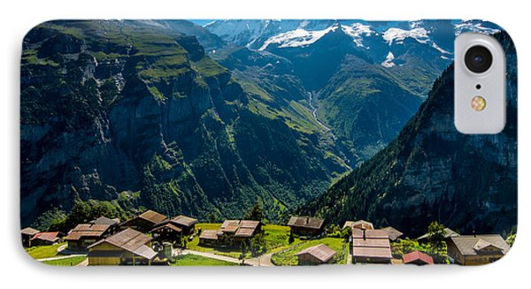 Gimmelwald In Swiss Alps - Switzerland IPhone Case