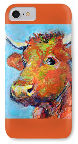 IPhone Case featuring the painting Ginger Horn by Mary Schiros