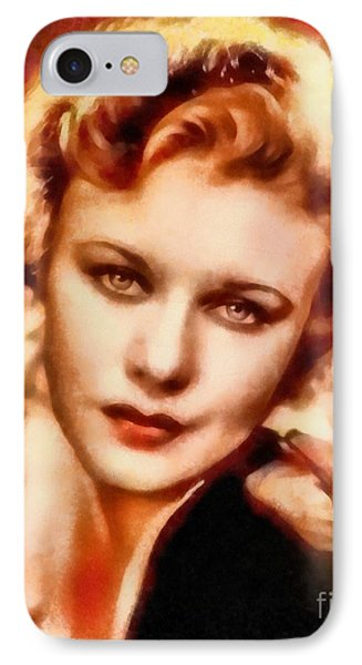 Ginger Rogers, Vintage Hollywood Legend IPhone Case by Frank Falcon