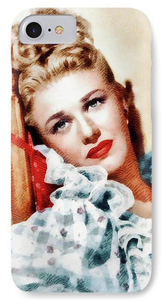 Ginger Rogers, Vintage Hollywood Legend IPhone Case by John Springfield