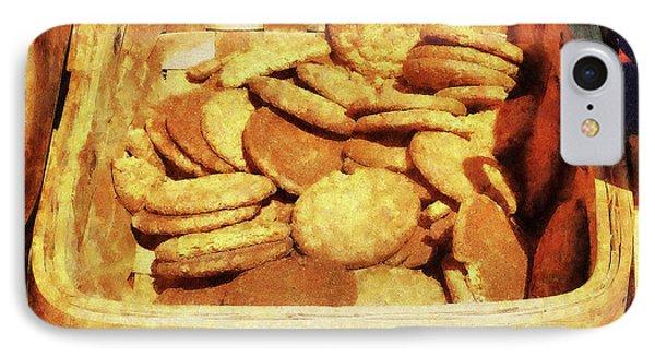 Ginger Snap Cookies In Basket Phone Case by Susan Savad