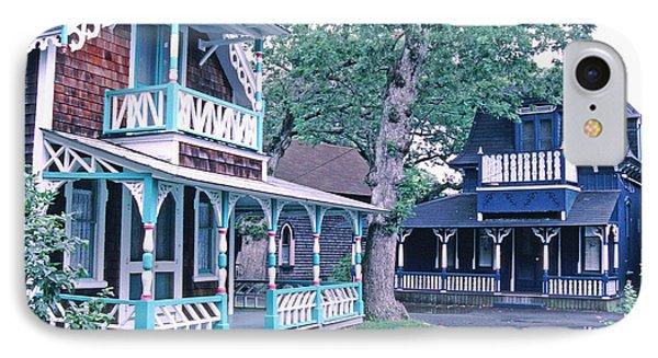 Gingerbread Houses Oak Bluff Martha's Vineyard IPhone Case by Tom Wurl
