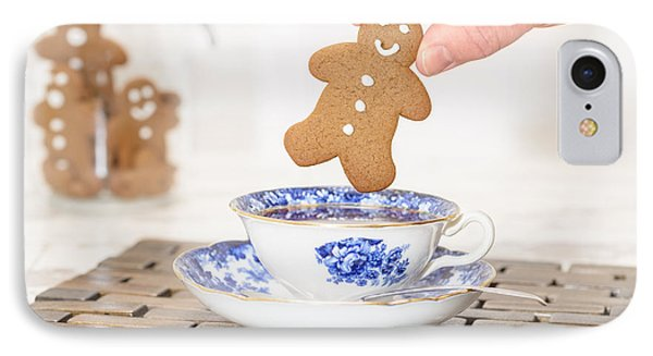 Gingerbread In Teacup IPhone Case by Amanda Elwell