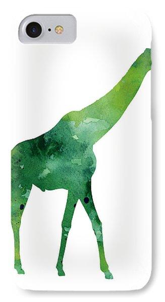 Giraffe African Animals Gift Idea IPhone Case by Joanna Szmerdt