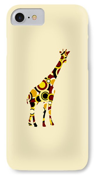 Giraffe - Animal Art IPhone Case by Anastasiya Malakhova