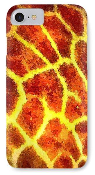 IPhone Case featuring the painting Giraffe Animal Print Design by David Mckinney