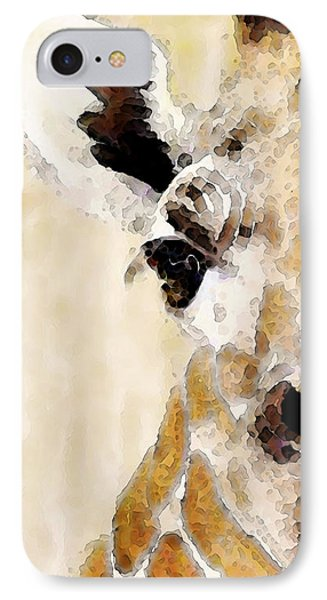 Giraffe Art - Side View IPhone Case