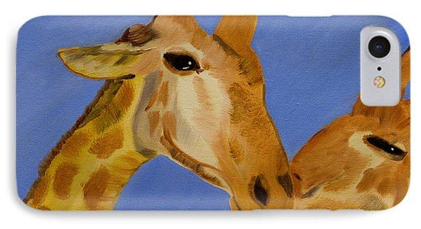 Giraffe Bonding IPhone Case by Meryl Goudey
