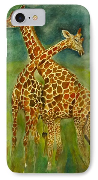 Lovely Giraffe . IPhone Case by Khalid Saeed