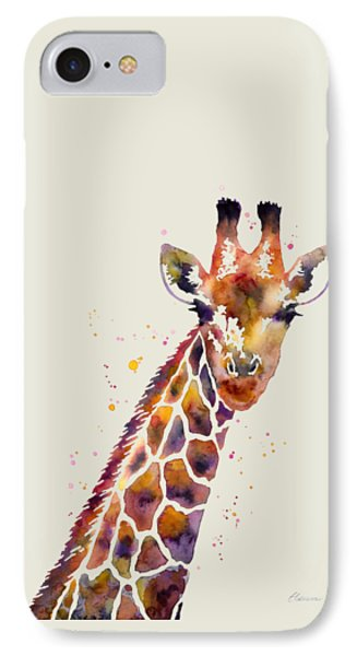 Giraffe IPhone Case by Hailey E Herrera