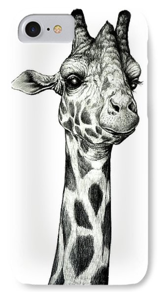 Giraffe IPhone Case by Heidi Kriel