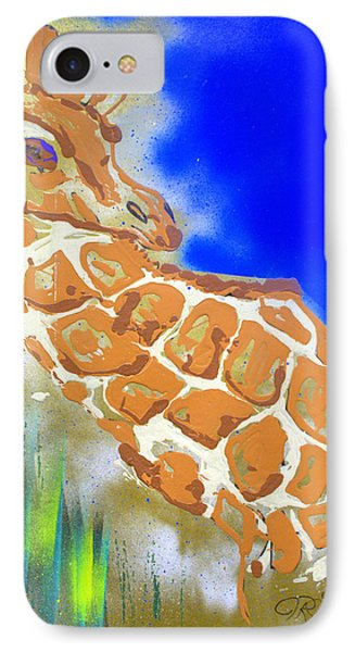 IPhone Case featuring the painting Giraffe by J R Seymour