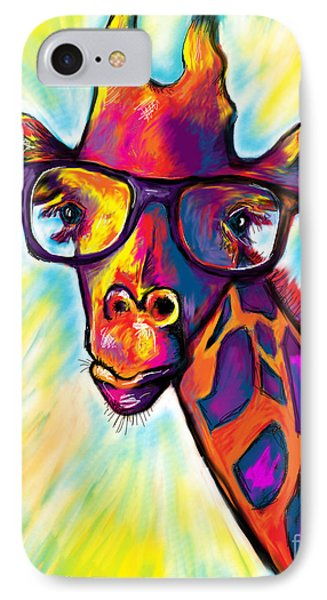 Giraffe IPhone 7 Case by Julianne Black