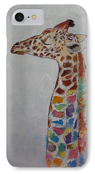 Giraffe IPhone Case by Michael Creese
