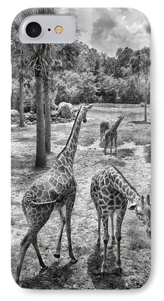 Giraffe Reticulated Phone Case by Howard Salmon