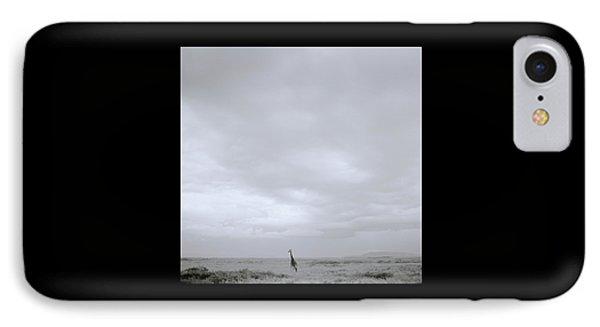 Giraffe Under Big Sky IPhone Case by Shaun Higson
