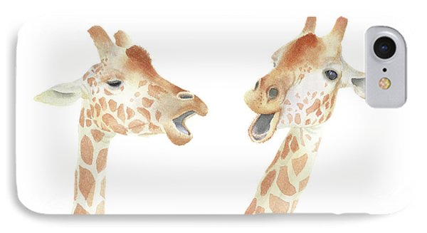IPhone Case featuring the painting Giraffe Watercolor by Taylan Apukovska