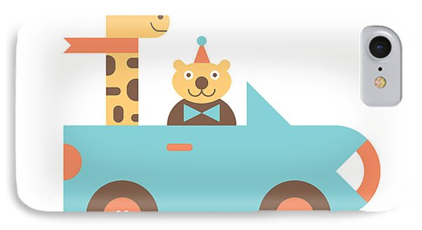 Animal Car Pool IPhone Case by Mitch Frey