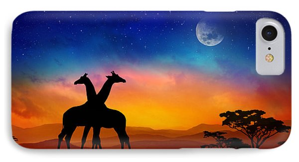Giraffes Can Dance IPhone Case by Iryna Goodall
