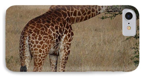 Giraffes Eating - Side View IPhone Case by Exploramum Exploramum