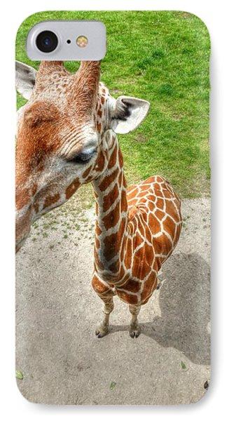 Giraffe's Point Of View Phone Case by Michael Garyet