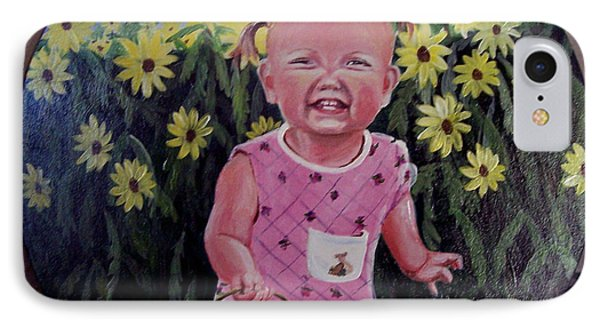 Girl And Daisies IPhone Case by Ruanna Sion Shadd a'Dann'l Yoder
