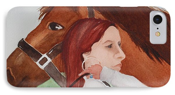 Girl And Her Horse IPhone Case