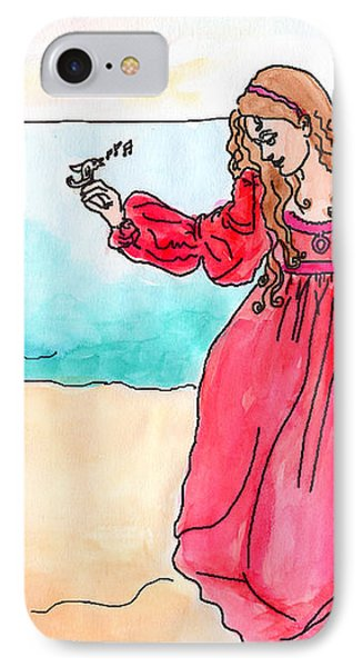 Girl And Singing Fish IPhone Case by Debbie Davidsohn