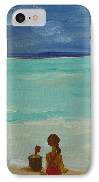 Girl And The Beach IPhone Case by Joseph Hawkins
