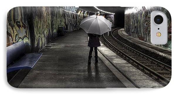 Girl At Subway Station IPhone Case by Joana Kruse