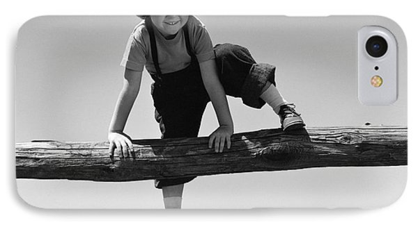 Girl Climbing Over Wooden Fence IPhone Case by H. Armstrong Roberts/ClassicStock