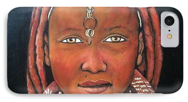Girl From Africa Phone Case by Jenny Pickens