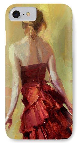 Girl In A Copper Dress I IPhone Case