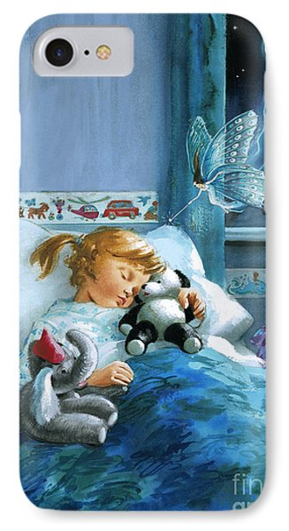 Girl In Bed Attended By Fairy IPhone Case by English School