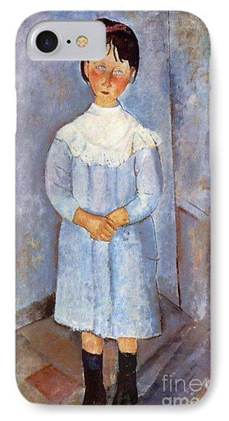Girl In Blue, 1918 IPhone Case