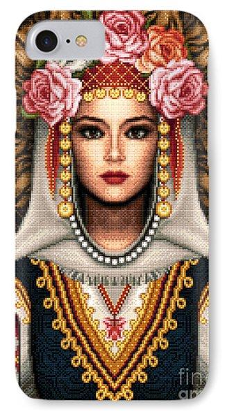 Girl In Bulgarian National Costume Phone Case by Stoyanka Ivanova