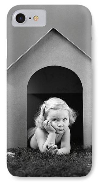 Girl In Dog House, C.1940s IPhone Case