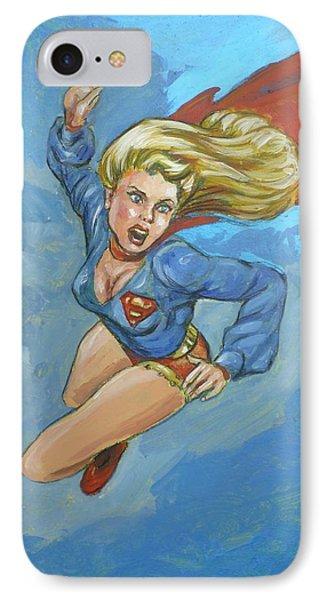 Girl Of Steel 1972 IPhone Case by Bryan Bustard