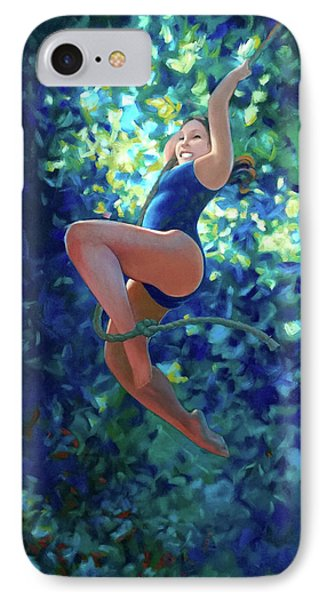 Girl On A Rope IPhone Case by Kevin Lawrence Leveque