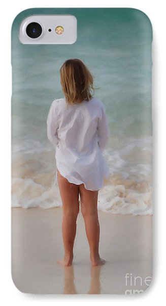 Girl On The Beach IPhone Case