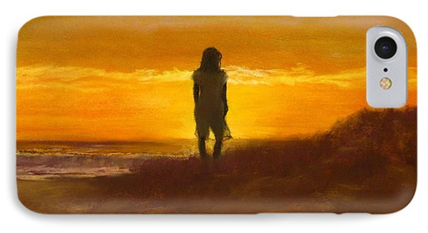 Girl On The Dunes IPhone Case