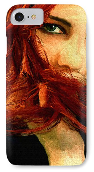 Girl Portrait 08 IPhone Case