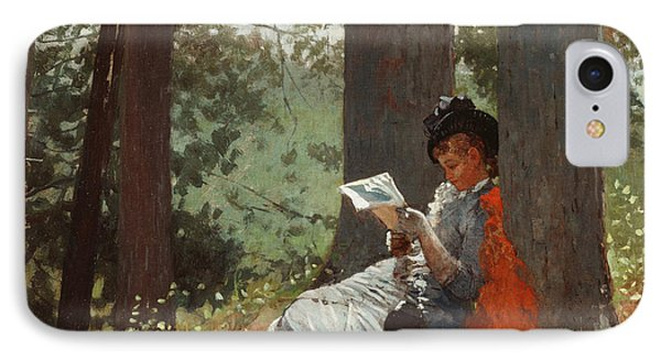 Girl Reading Under An Oak Tree IPhone Case