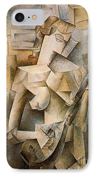 Girl With A Mandolin IPhone Case by Picasso