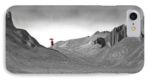 Girl With A Red Umbrella 1 IPhone Case by Mike McGlothlen